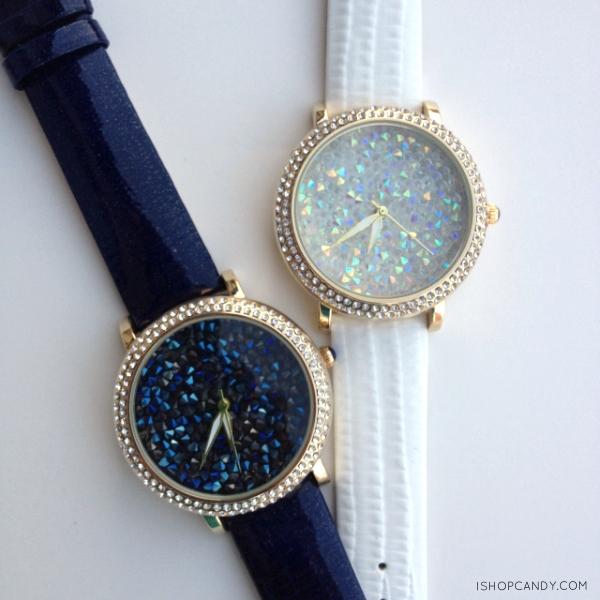 Iris crystal watch