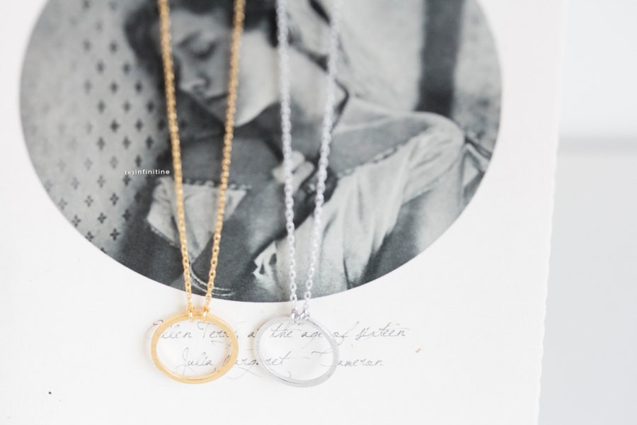 forever circle pendant necklace,N005K