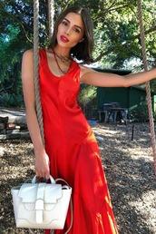 bag,red dress,red,olivia culpo,instagram