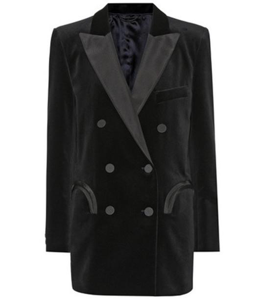 Blazé Milano Everyday velvet blazer in black