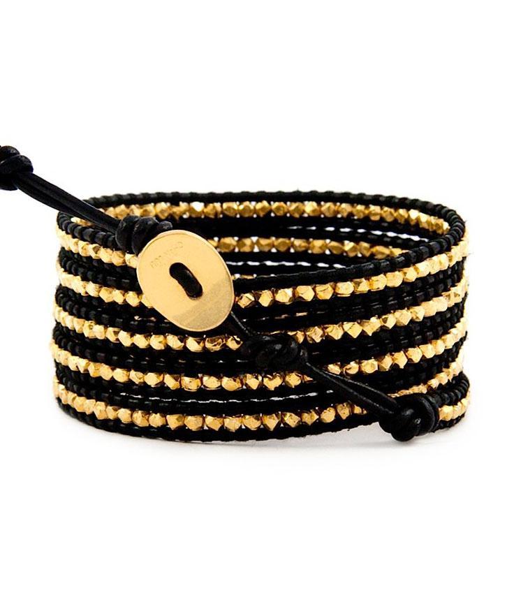 Chan Luu | Bracelet 5 rangs cuir black | Shopnextdoor