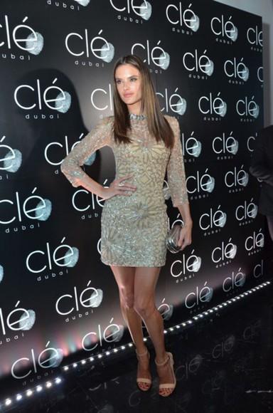 alessandra ambrosio dress glitter dress sparkly sparkly dress glitter