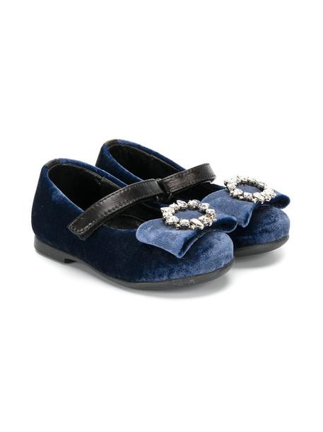Andrea Montelpare blue velvet shoes