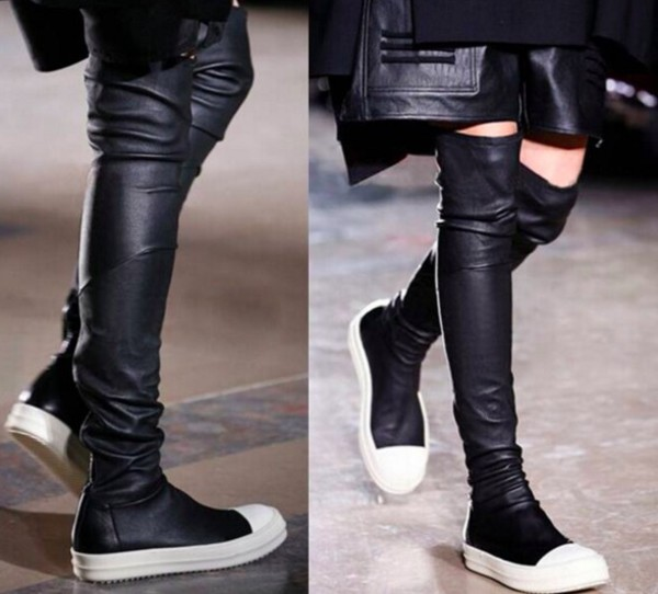 CHIKO Danuta Capped Toe Thigh High Fashion Sneaker Boots
