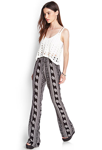Floral Print Wide-Leg Pants | FOREVER21 - 2000087446