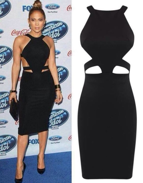 dress jennifer lopez black dress mini dress