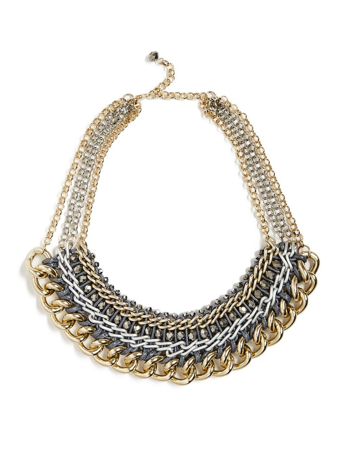 Amazon.com: G by GUESS Women's Woven Chain Statement Necklace, MULTI: Jewelry