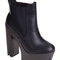 Black nappa cleated sole platform boot | linzi | women's shoes, boots & sandals