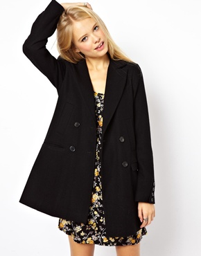 ASOS Longline Double Breasted Coat at ASOS