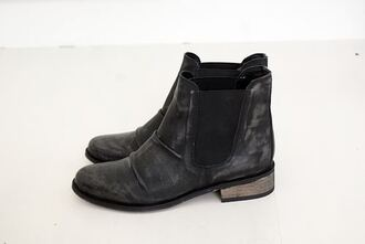 low boots boots leather shoes black black boots flat boots suede beautiful