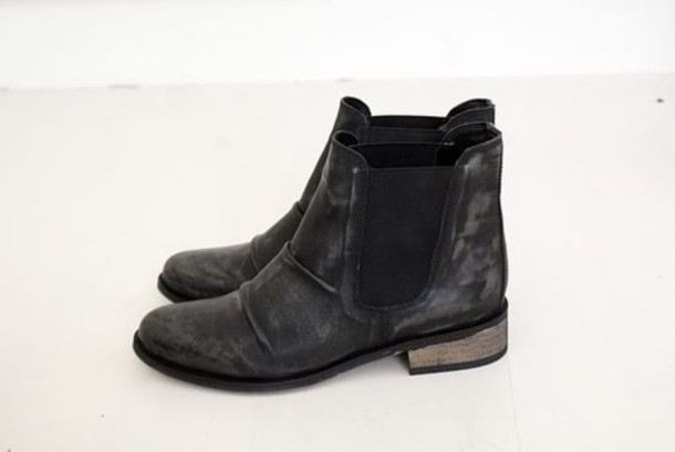 e1b81da58407 leather shoes boots black black boots low boots flat boots suede beautiful
