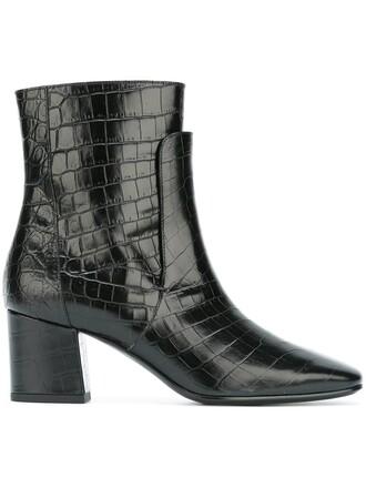 boots crocodile black shoes