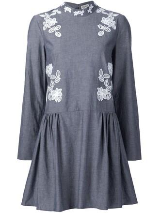 dress women cotton grey