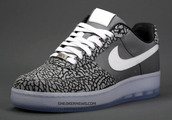 shoes,nike,nike air,nike air force,white laces,grey,black,sneakernews.com,nike air force 1,clear