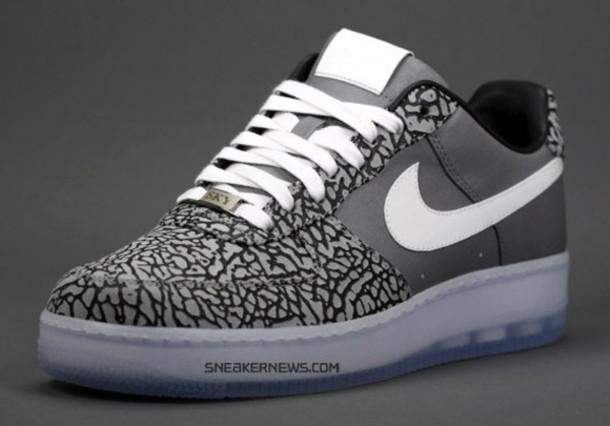 4ce852d79f0 shoes nike nike air nike air force white laces grey black sneakernews.com nike  air