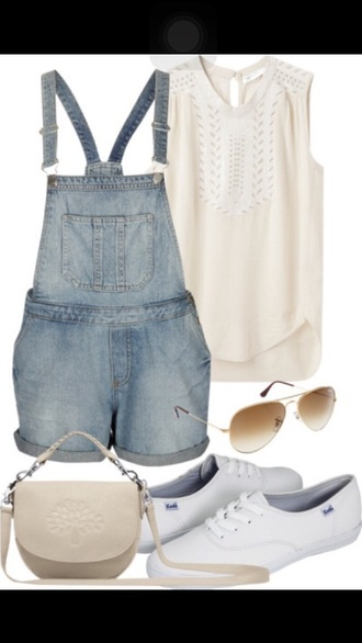 jumpsuit overalls sweater style sunglasses summer outfits creams sweater