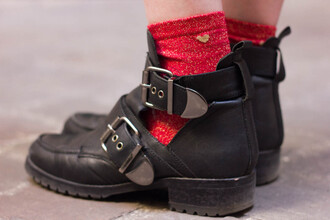 mahayanna blogger socks cut out ankle boots