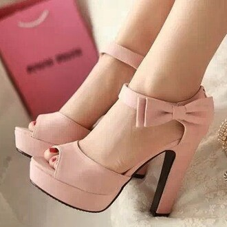 baby pink bows baby pink high heels high heels classy