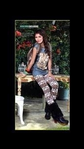 pants,tribal pattern,kontrol,leopard print,zendaya,magazine