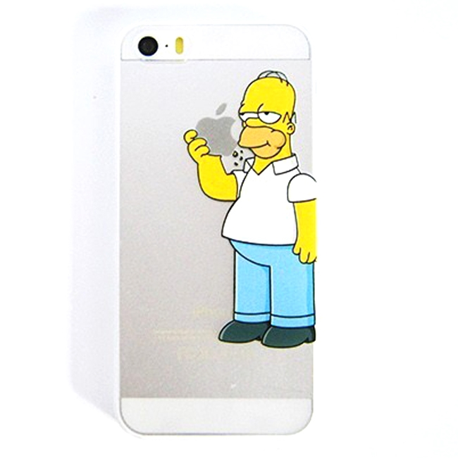 Apple iPhone 5 5S Cartoon Snack On This Clear Printed Phone Cover Case