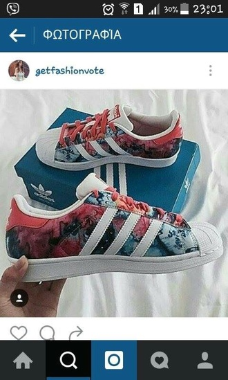 shoes adidas superstar floral adidas superstars