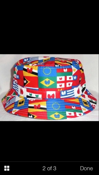 hat ebay wu-tang clan flags international bucket hat