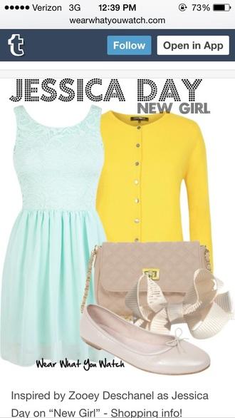 dress jess day new girl zooey deschanel
