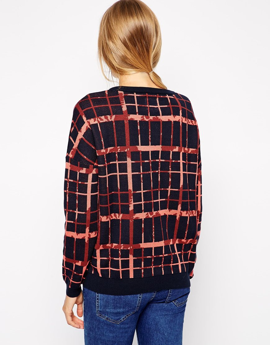 Selected Kanna Jumper in Check at asos.com