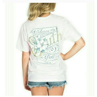 t-shirt lauren james pink south southern ya'll yall country preppy girly