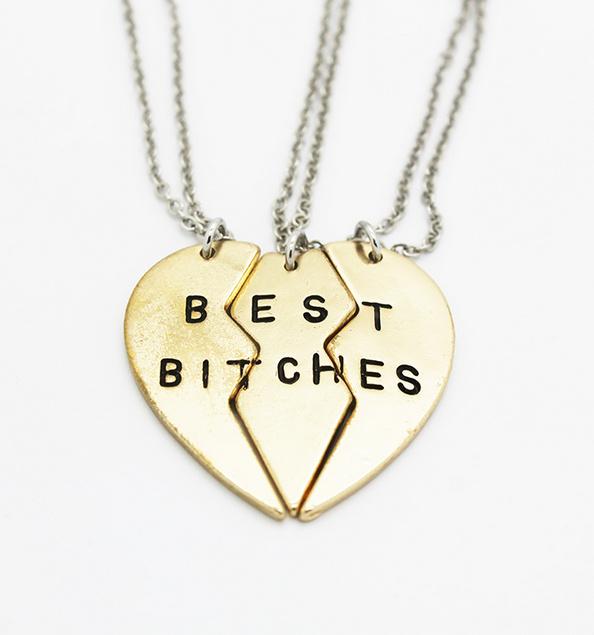 Best bitches heart necklace set · nouveau craze · online store powered by storenvy