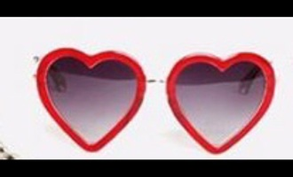 sunglasses heart red
