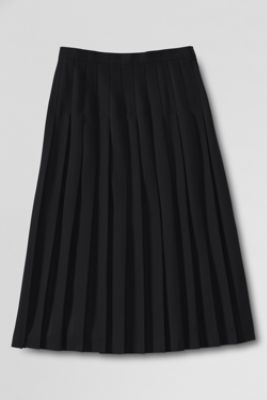 Women's Solid Long Pleated Skirt from Lands' End