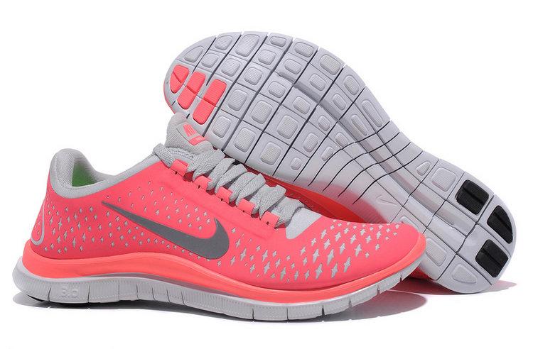 (Av913) Nike Free Run 3.0 V4 Women Hot Punch Pink Trainers - £49.13
