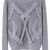 ROMWE | Crossed Strips Grey Jumper, The Latest Street Fashion