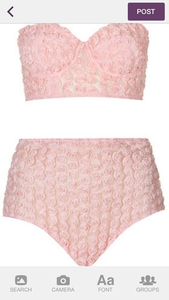 top lingerie rose pink dress