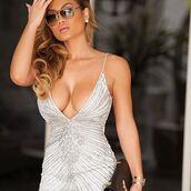 dress,sexy dress,white dress,silver dress,mini dress,club dress,holt miami,bachelorette dress,birthday dress,holt