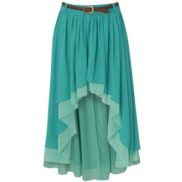 Red or Dead Bess Dip Hem Skirt - Polyvore