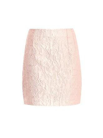 skirt mini skirt mini jacquard pink