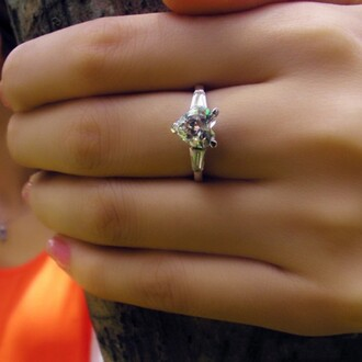 jewels heart diamond engagement ring three prong set diamond ring 1.13 ct heart shaped sona diamond engagement / wedding ring evolees.com