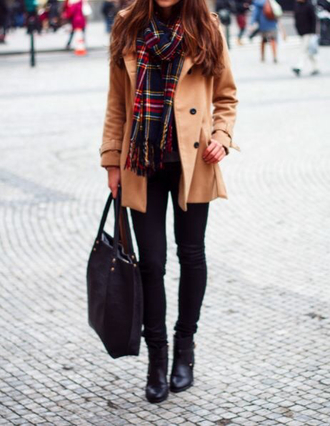coat clothes fashion scarf