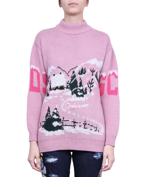 GCDS sweater turtleneck wool sweater wool