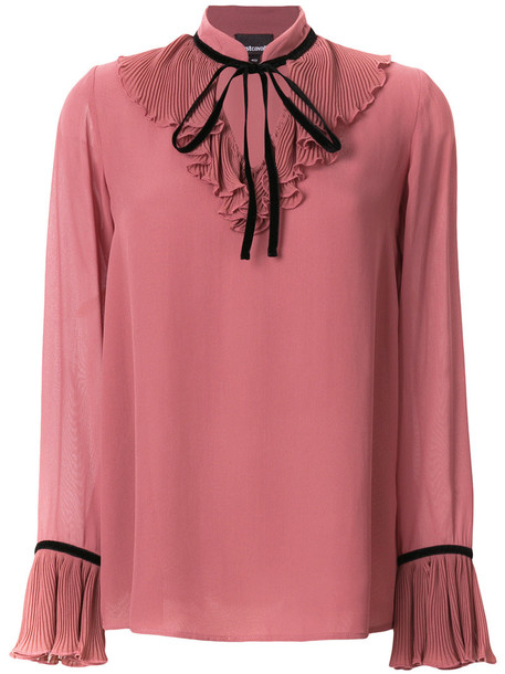 just cavalli blouse women purple pink top