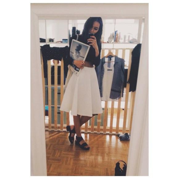 white white skirt skirt zara midi skirt
