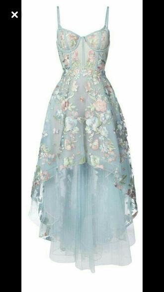 dress blue blue dress floral dress cute dress