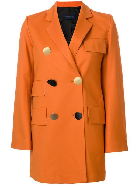 coat women spandex wool yellow orange
