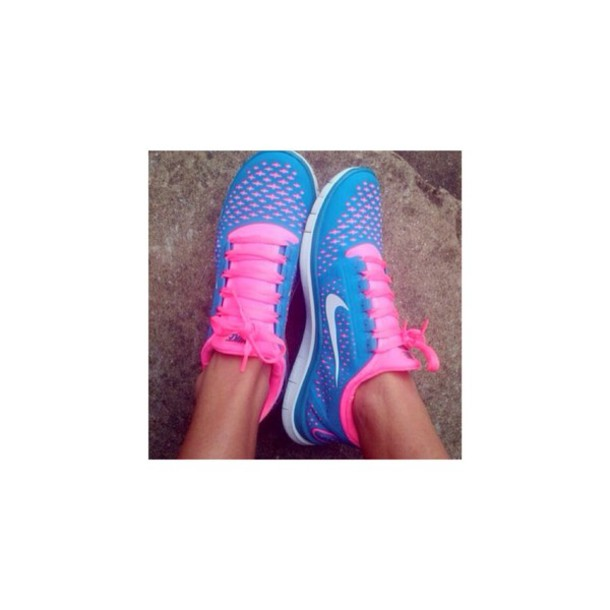 shoes nike pink and blue shoes