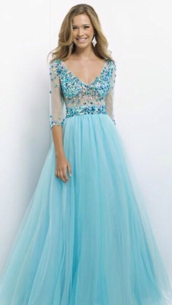 dress prom dress long prom dress blue dress pretty prom dress