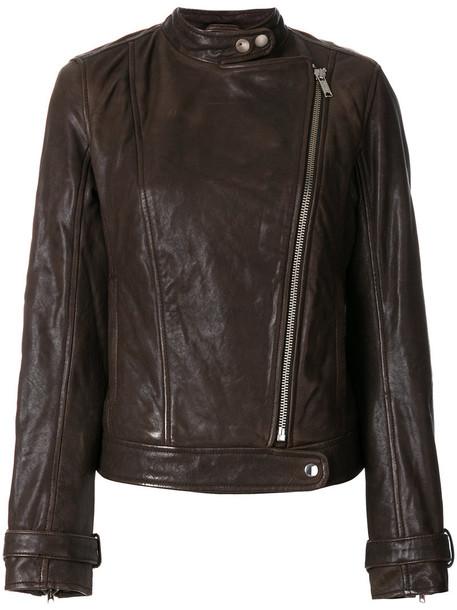 DONDUP jacket biker jacket women brown