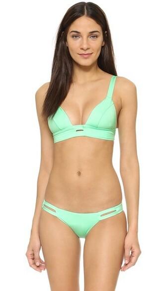 bralette green underwear