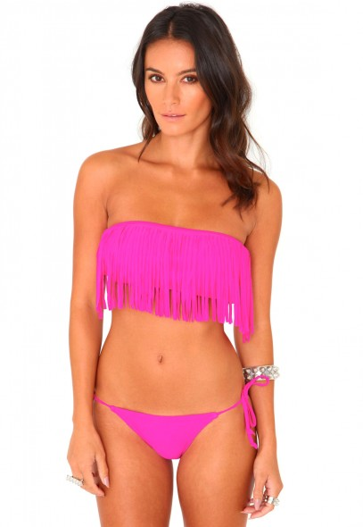 Onna Bandeau Fringe Bikini - Swimwear - Swimsuits - Missguided